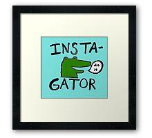 Inst(i)gator Framed Print