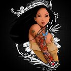 Pocahontas - Inked by jebez-kali