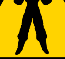 Super Saiyan at work - Road Sign - TShirt Sticker