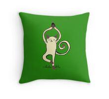 Yoga Cat Throw Pillow