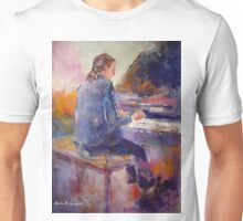 Playing The Piano - Music Art Gallery 9 Unisex T-Shirt
