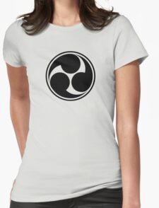 Mitsu Tomoe - Japan - Shinto Trinity Symbol - Triskele Womens Fitted T-Shirt