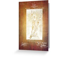 Statue If Liberty Original Patent By Bartholdi 1879 Greeting Card