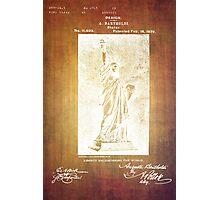 Statue If Liberty Original Patent By Bartholdi 1879 Photographic Print
