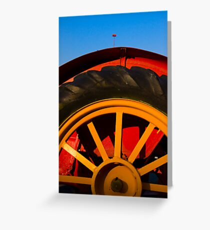 Primary Tractor Greeting Card