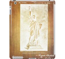 Statue If Liberty Original Patent By Bartholdi 1879 iPad Case/Skin