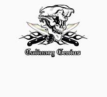 Chef Skull 10: Culinary Genius 3 black flames Unisex T-Shirt