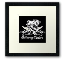 Chef Skull 10: Culinary Genius 3 white flames Framed Print