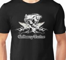Chef Skull 10: Culinary Genius 3 white flames Unisex T-Shirt