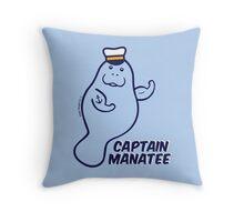 Captain Manatee Throw Pillow