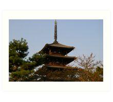 Nara Temple Art Print