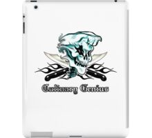 Chef Skull 11: Culinary Genius 3 black flames iPad Case/Skin