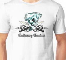 Chef Skull 11: Culinary Genius 3 black flames Unisex T-Shirt