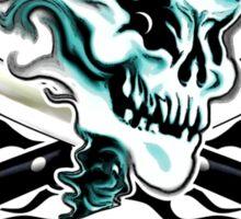 Chef Skull 11: Culinary Genius 3 black flames Sticker