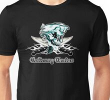 Chef Skull 11: Culinary Genius 3 white flames Unisex T-Shirt