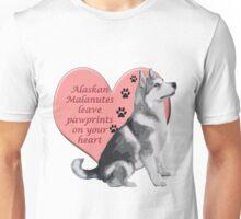 Alaskan Malamute Pawprints Unisex T-Shirt