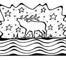 Wapiti (Elk) by Jan Landers