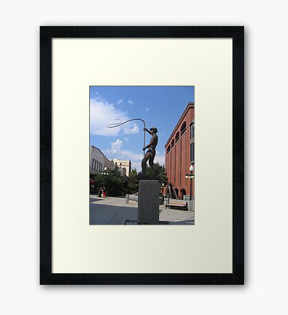 american hero Framed Print