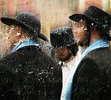 Three Men in Hats by Judy Olson