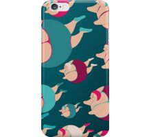 Synchronised Night Swimmers iPhone Case/Skin