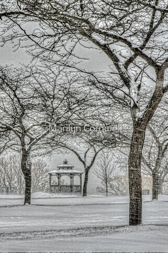 Winter's Gazebo Garden by Marilyn Cornwell
