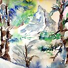 Trees in the Alps by CrismanArt
