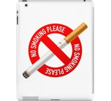 No smoking iPad Case/Skin