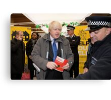 Boris Johnson visits Ealing Canvas Print