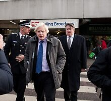 Boris Johnson visits Ealing Broadway by Keith Larby