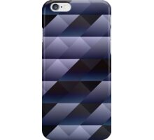 Geometric blue gray iPhone Case/Skin