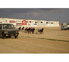 trotting races Photographic Print