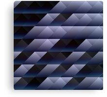 Geometric blue gray Canvas Print