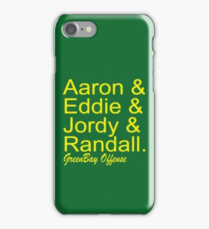 GreenBay Offense iPhone Case/Skin