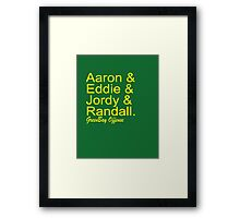 GreenBay Offense Framed Print