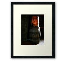 Cider Barrels Framed Print