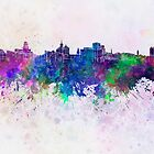 Buffalo skyline in watercolor background by paulrommer