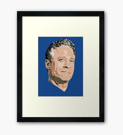 John Stewart of The Daily Show Framed Print