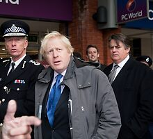 Boris Johnson with Metropolitan with Police Commissioner Sir Bernard Hogan-Howe by Keith Larby