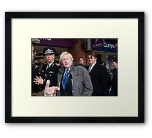 Boris Johnson with Metropolitan with Police Commissioner Sir Bernard Hogan-Howe Framed Print