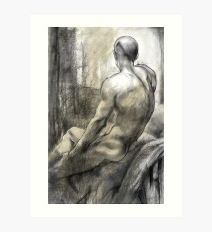 Male nude Art Print