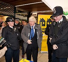 Boris Johnson visits Ealing in london by Keith Larby
