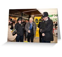 Boris Johnson visits Ealing in london Greeting Card