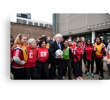Boris Johnson plays netball Canvas Print