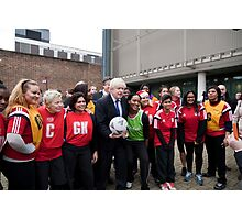 Boris Johnson plays netball Photographic Print
