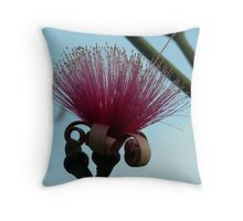 Red Mustache Brush Throw Pillow