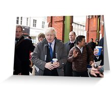 Boris Johnson visits Ealing Greeting Card