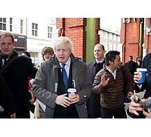 Boris Johnson visits Ealing Photographic Print