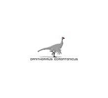 Pixel Ornithomimus by David Orr