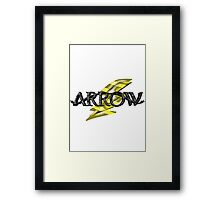 Tv Series Arrow and Flash cross-over 2 Framed Print