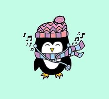 PENGUIN & MUSIC by drawingsbyhm